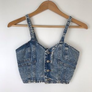 Vintage 90s Denim Crop Top